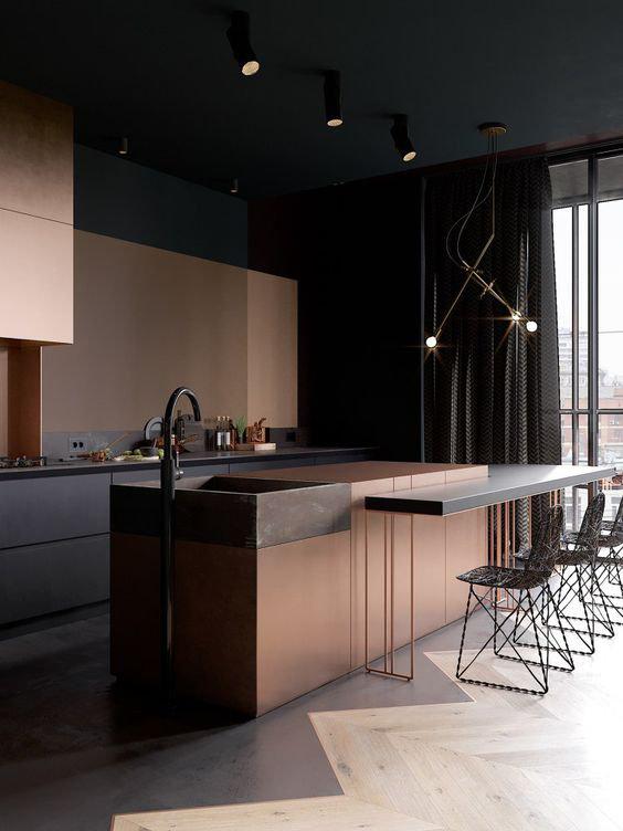 Металлические поверхности - новый тренд в интерьере кухни
