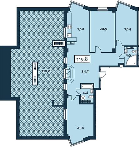7 квартир с террасами