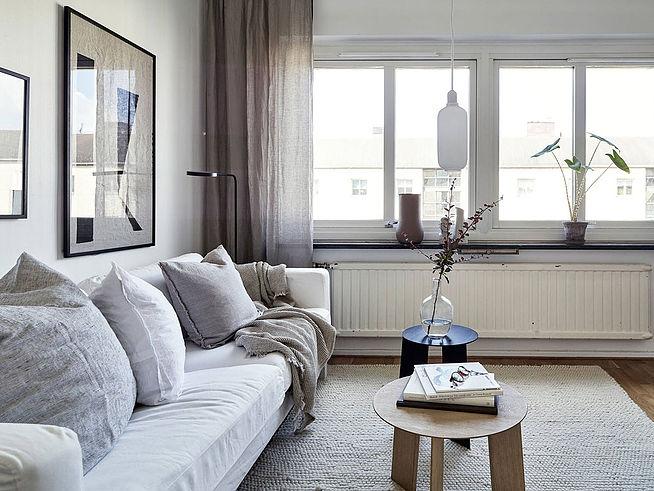 Скандинавская однокомнатная квартира площадью 25 м кв