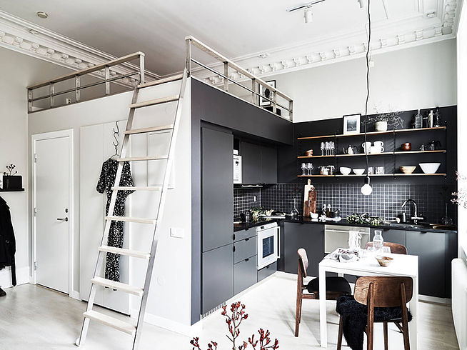 Стильная квартира в серых тонах площадью всего 29 квадратных метров