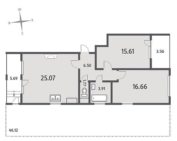Квартиры с мансардами и террасами на небольшой бюджет