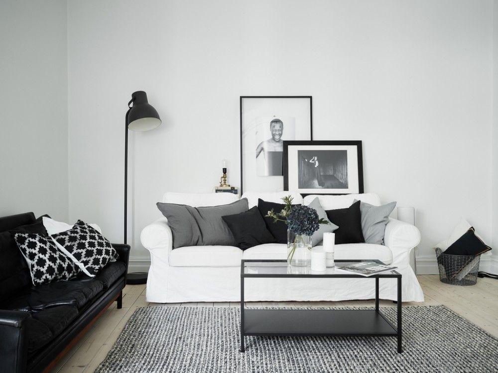 Монохромный интерьер двухкомнатной квартиры