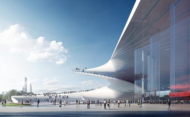 Лестница в небо: проект Шанхайской оперы от студии Snøhetta