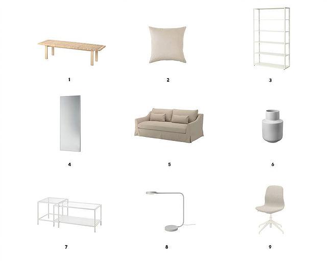 модный интерьер в нюдовых оттенках из IKEA