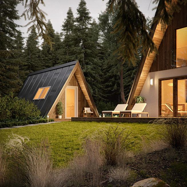 Стильный дачный дом, который можно построить своими руками