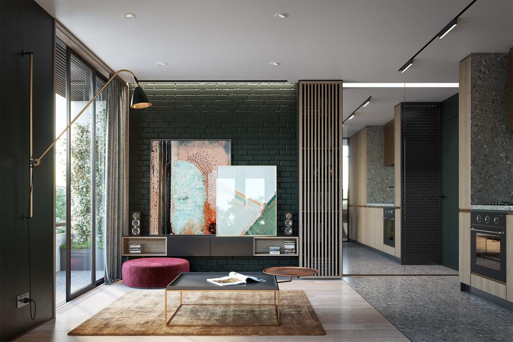 3 впечатляющие и очень разные квартиры-студии