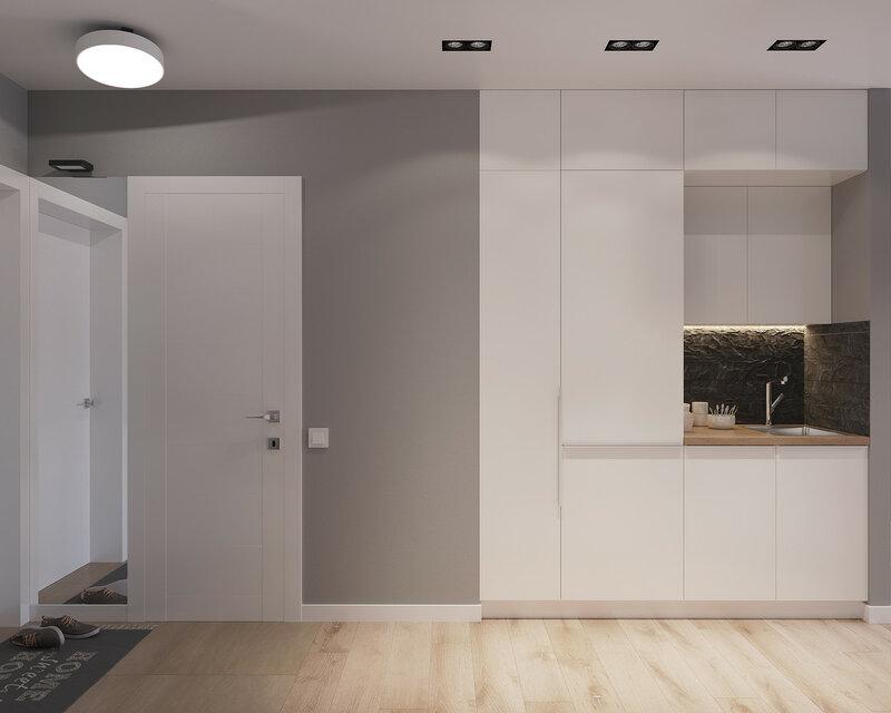 Стильный и функциональный интерьер студии площадью 30 кв м