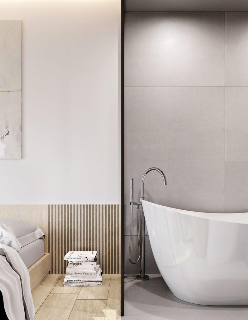 Все напоказ: красивая однокомнатная квартира со стеклянными перегородками