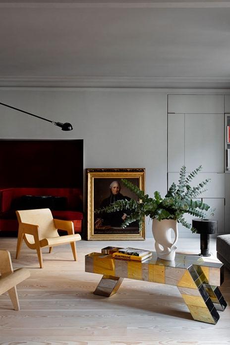 Парижская квартира в старинном здании с современным инетрьером от Федерико Мазотто