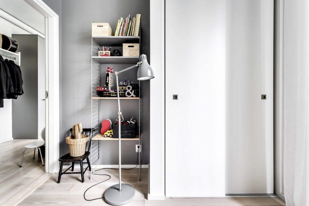 Элегантный и простой интерьер квартиры с двумя спальнями в скандинавском стиле