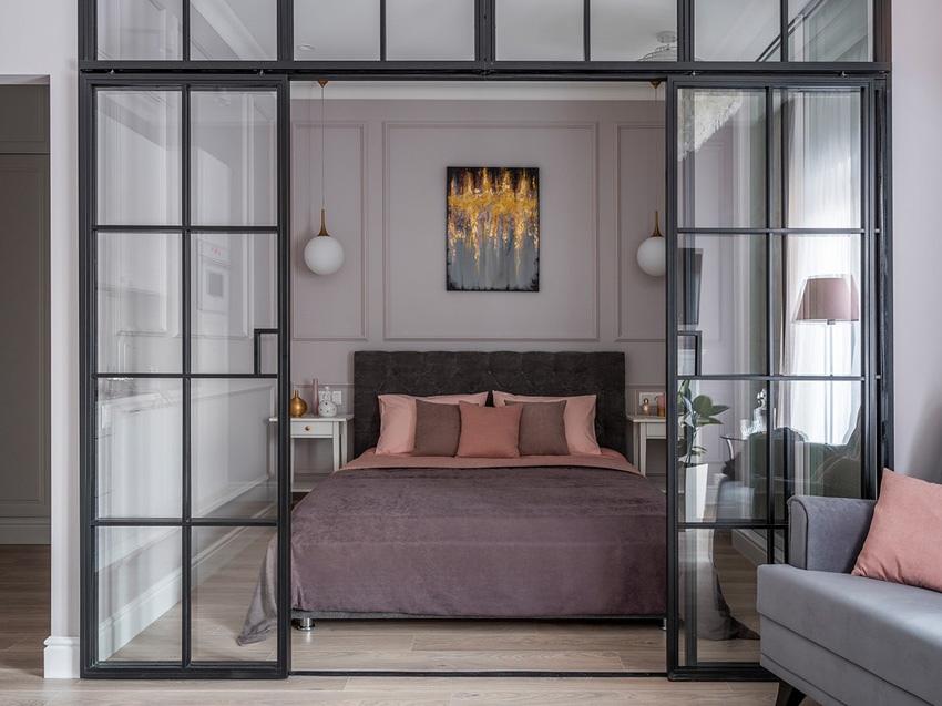 Элегантный современный интерьер квартиры площадью 42 кв м