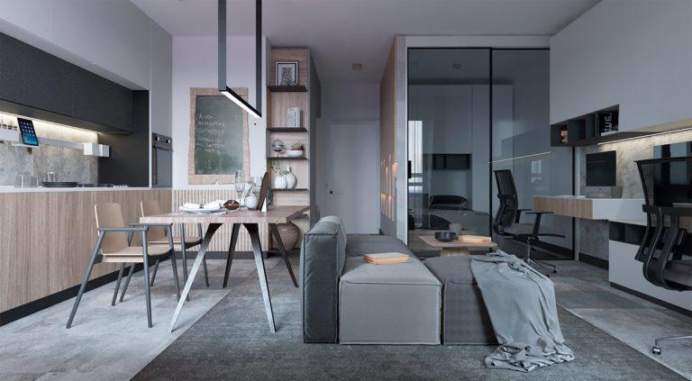 5 интерьеров со стеклянными перегородками, которые можно повторить в типовых квартирах