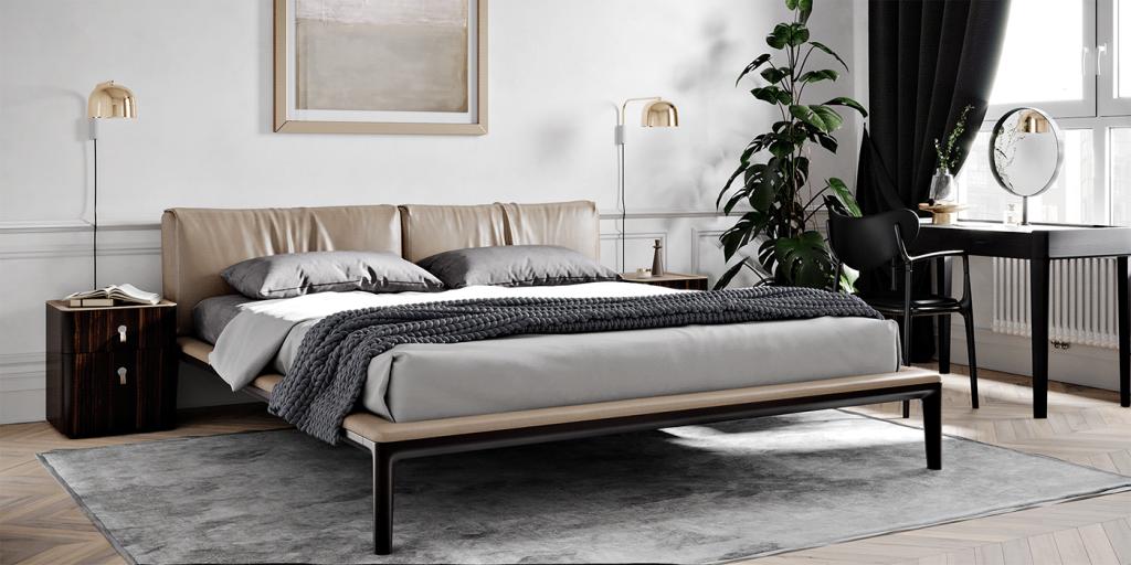 Спальня двухкомнатной квартиры с винтажными акцентами