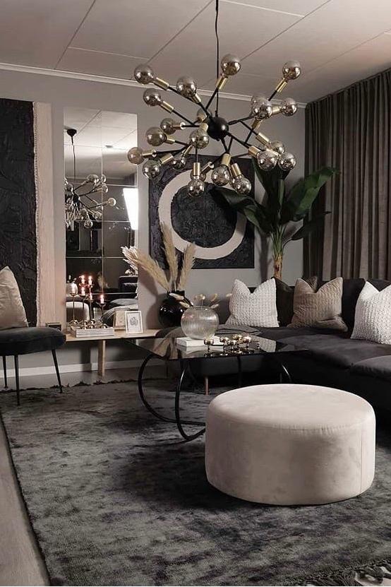 Нарядные кухня и гостиная в скандинавском стиле, которые просто повторить в обычной квартире