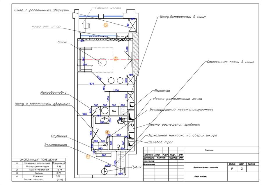Планировка квартиры-студии 31 кв м в стиле минимализм