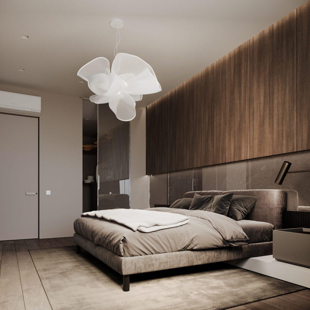 Современный интерьер квартиры с двумя спальнями