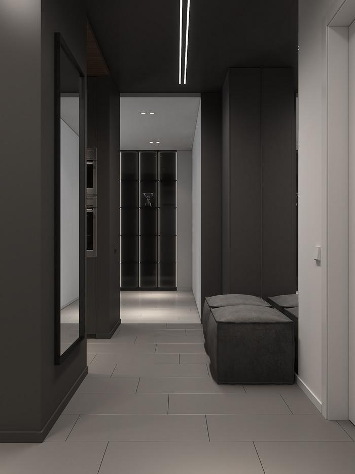 Нескучный минимализм: современный интерьер квартиры с объединенной кухней-гостиной