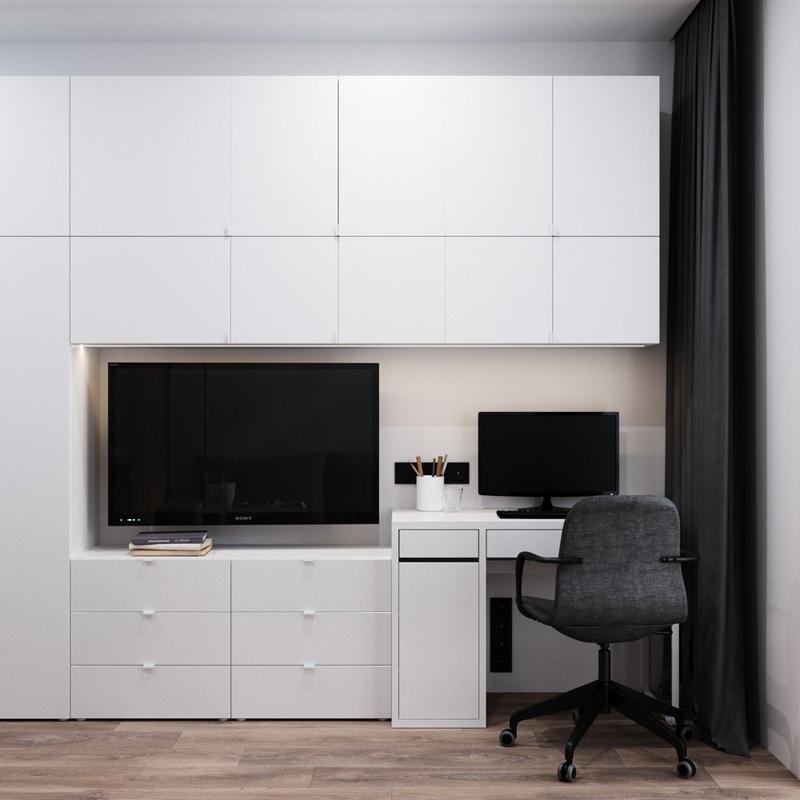 Интерьер квартиры-студии площадью 23 кв м, который вдохновляет