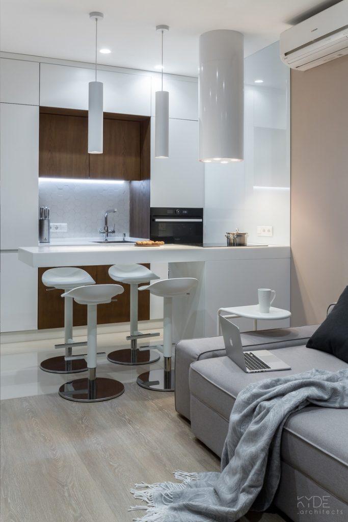 Уютный минимализм: студия площадью 28 кв м