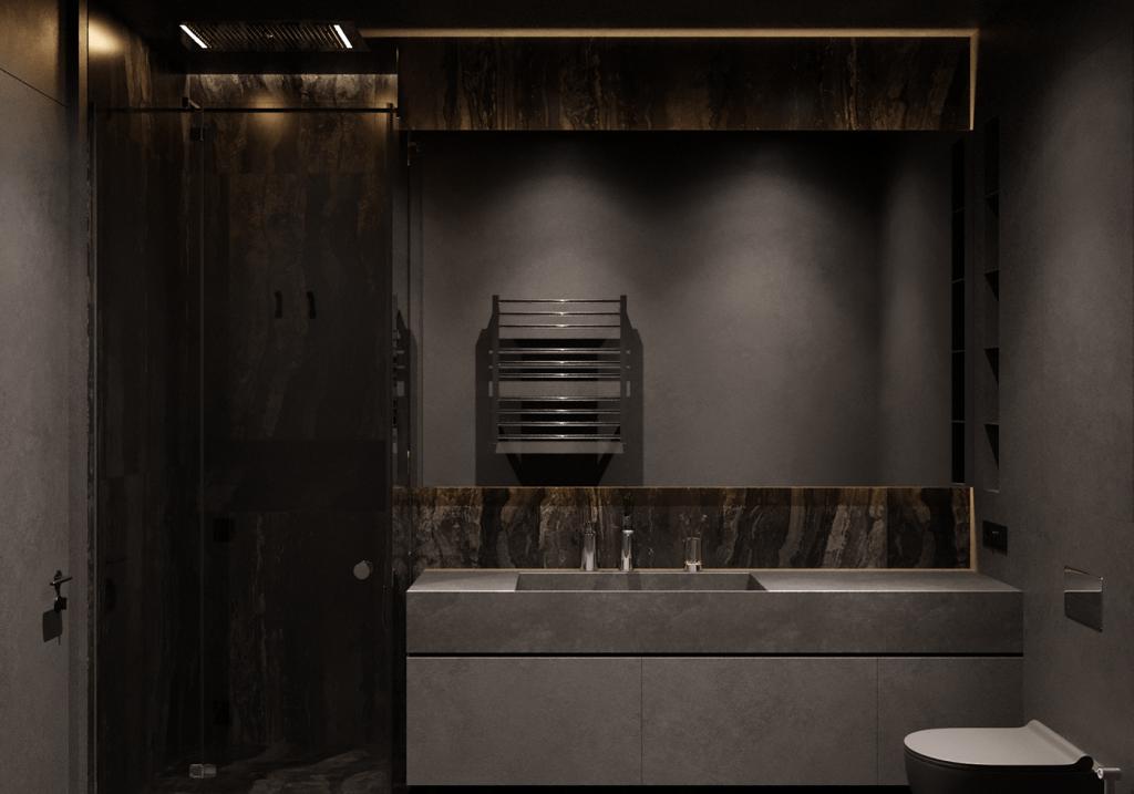 Простой и эффектный интерьер однокомнатной квартиры