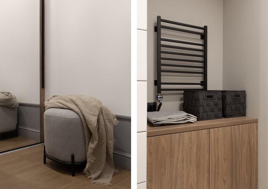 Системы хранения в  квартире-студии 31 кв м
