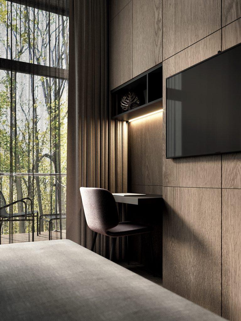 Бетон и дерево: интерьер квартиры площадью 53 м² в стиле лофт