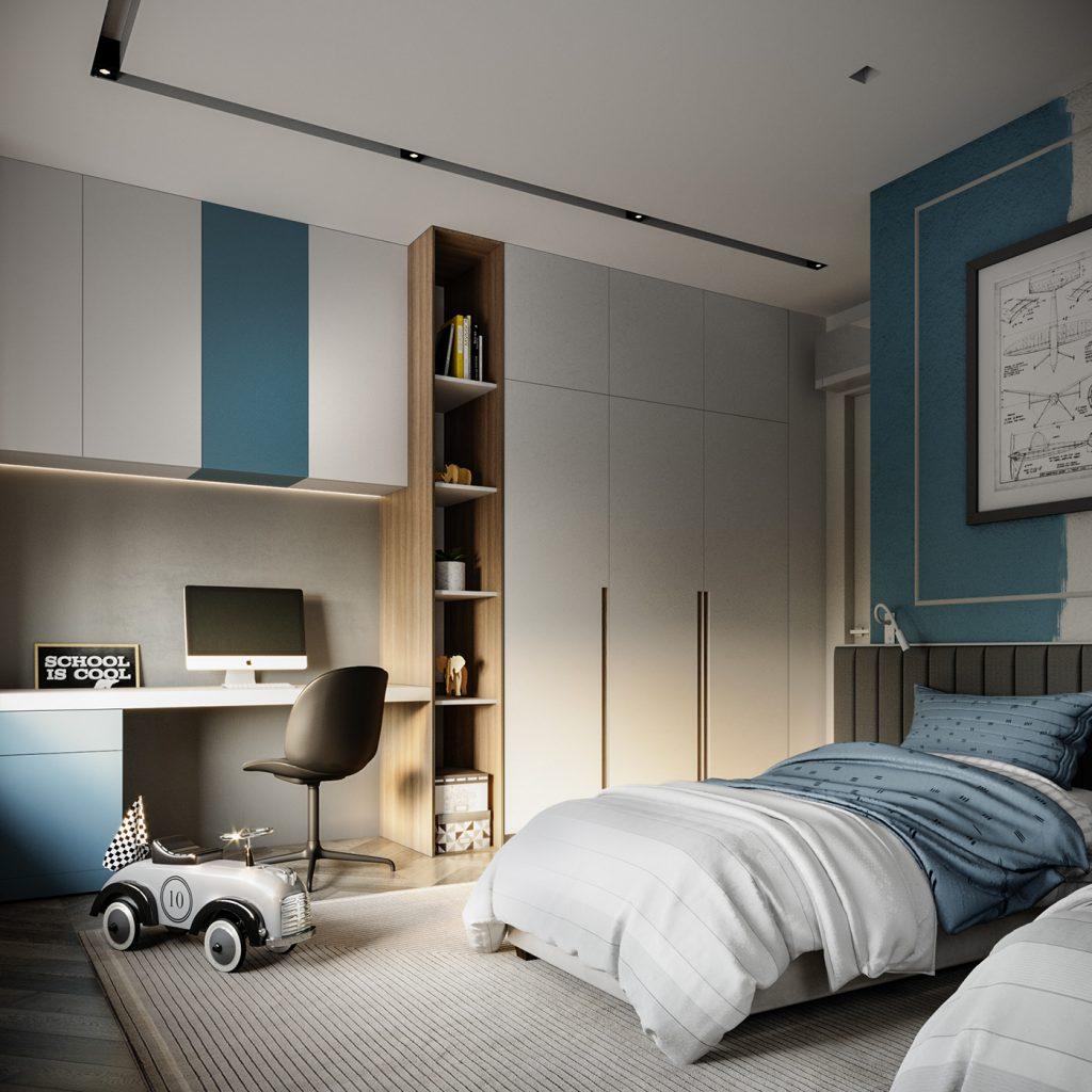 Проект квартиры в молочных тонах с красивыми цветовыми акцентами
