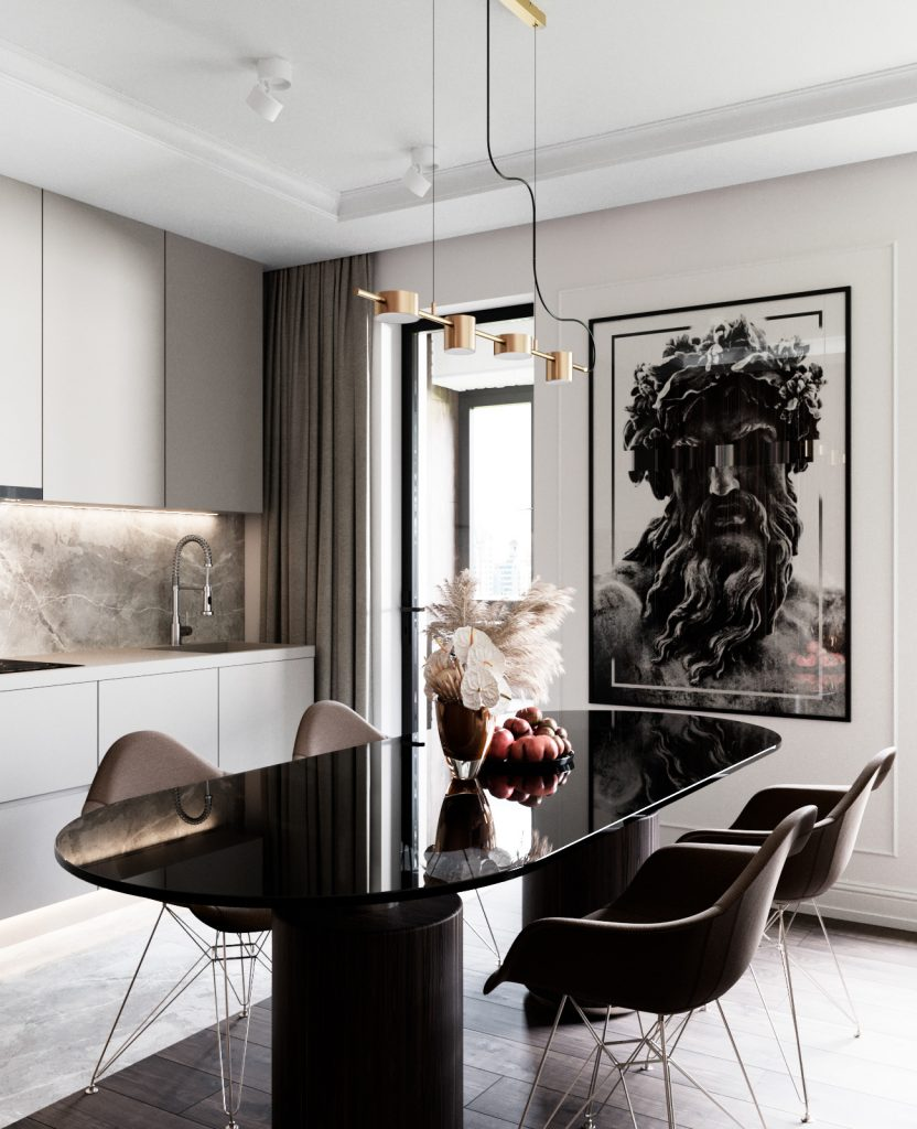 Стильный и богатый интерьер евро-двухкомнатной квартиры