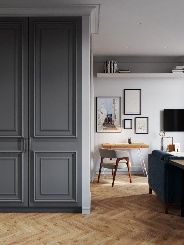 Благородная палитра: элегантный интерьер квартиры-студии площадью 33 м²