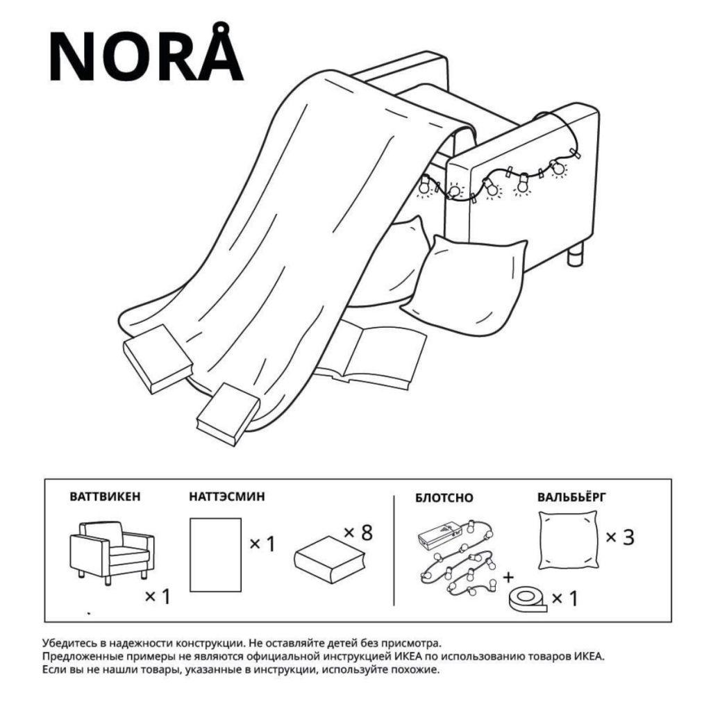 Строим домик с детьми: IKEA выпустили инструкции для создания тех самых домиков из детства