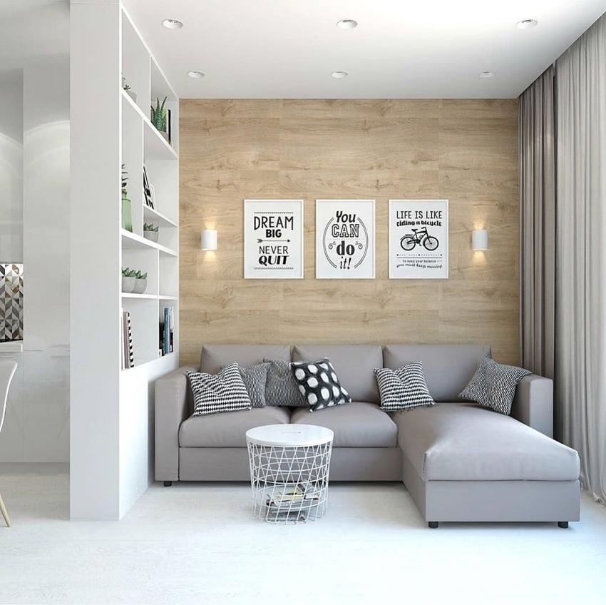 Скандинавский стиль: простой светлый интерьер квартиры-студии площадью 26 м²
