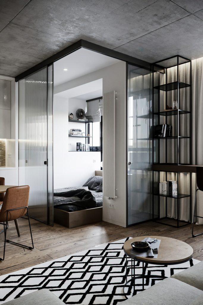 Дизайн-проект квартиры площадью 41 м² в стиле лофт