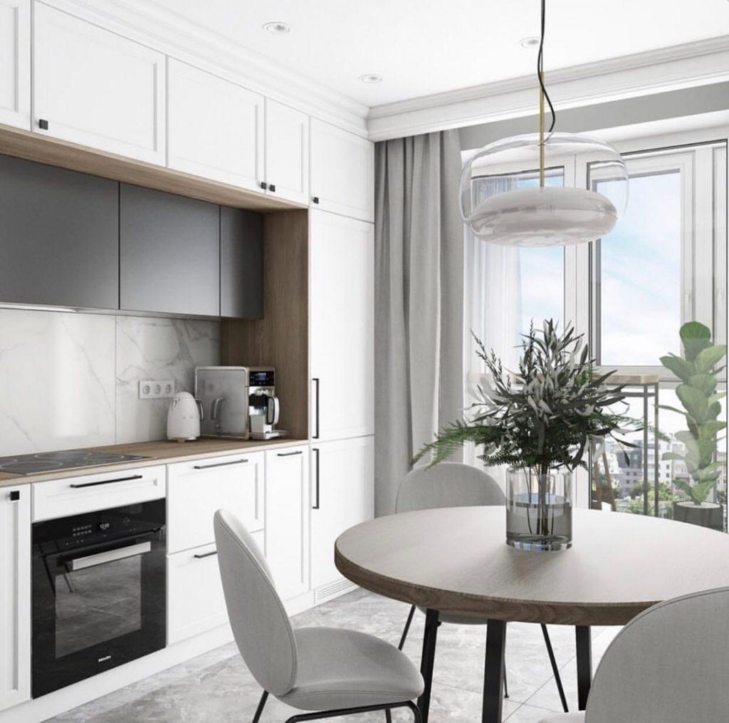 Стильный и функциональный интерьер кухни площадью 11 м²
