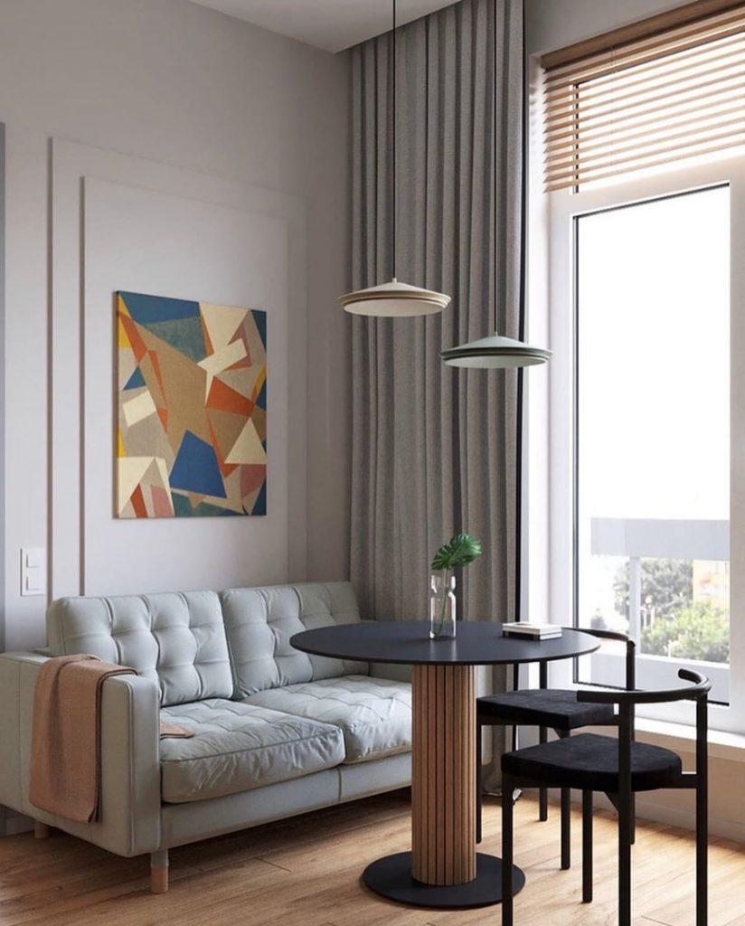 Нестандартная планировка: необычный интерьер однокомнатной квартиры со сложной планировкой