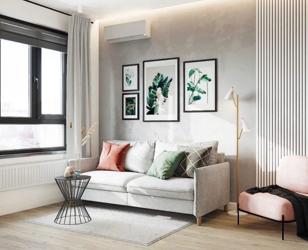 Стильный и недорогой интерьер квартиры-студии площадью 25 м²