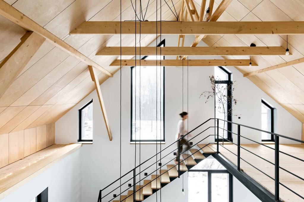 Минималистичный интерьер дома в стиле Barn House под Петербургом