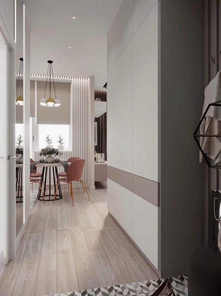 Простой и очень уютный интерьер однокомнатной квартиры площадью 42 м²