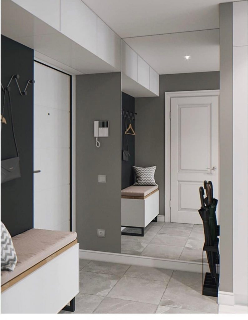 Прекрасный пример функционального зонирования в квартире-студии площадью 31,5 м²