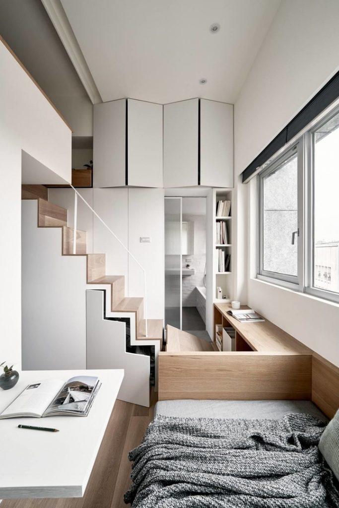 Архитектура маленьких пространств: невероятно функциональный дизайн студии площадью всего 17,6 м²