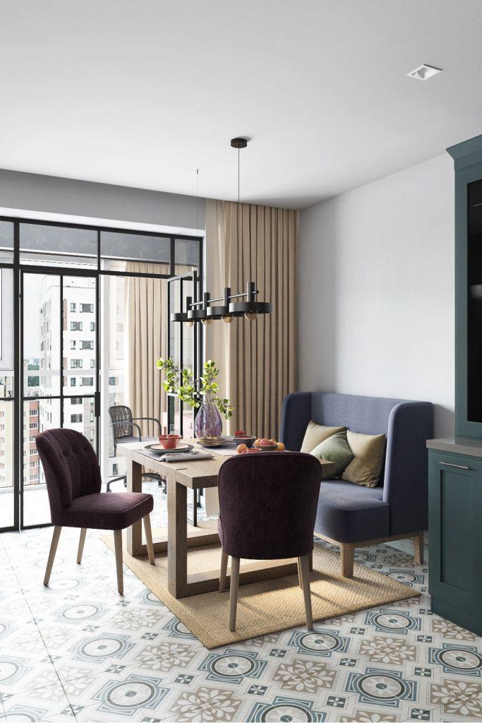 Ягодная палитра: легкий яркий интерьер евро-трехкомнатной квартиры