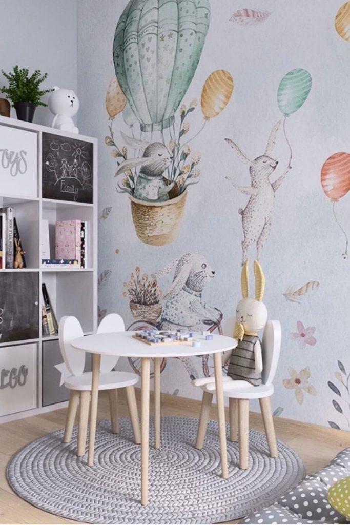 Нежный, красивый и функциональный интерьер детской площадью 9 м²