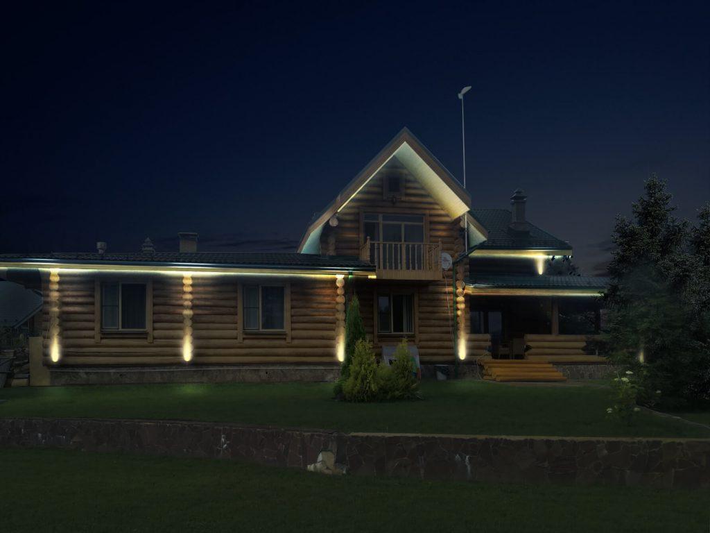 Особая атмосфера загородной жизни: архитектурное освещение для загородного дома