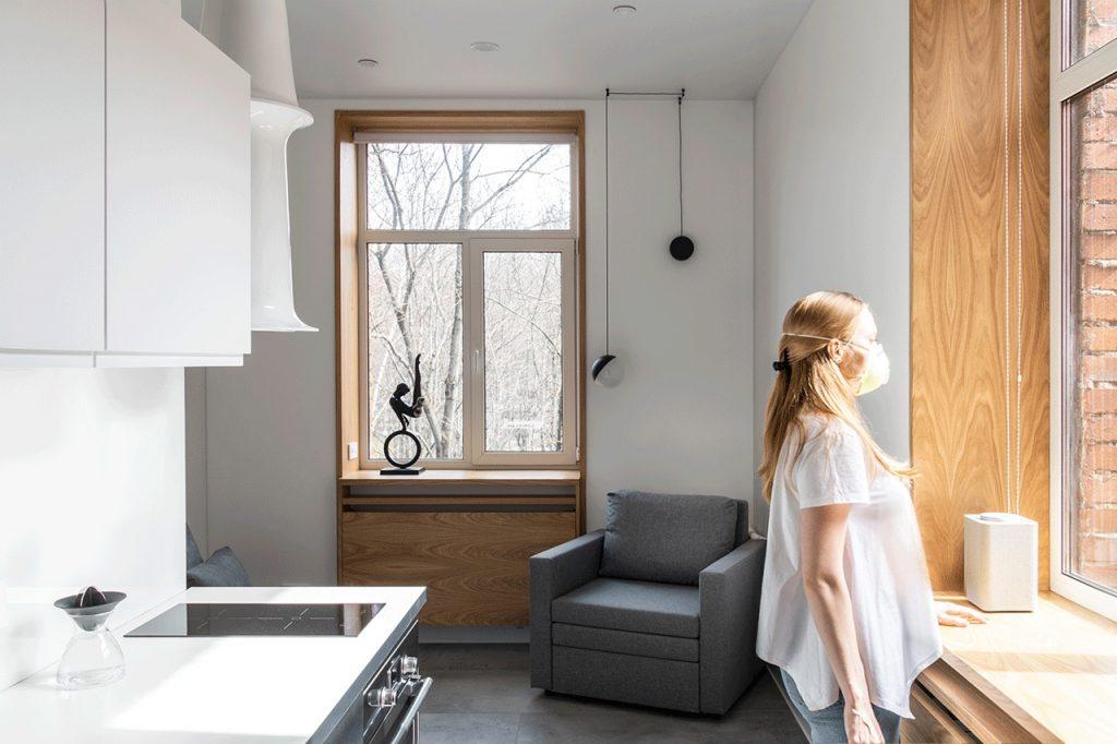 Абсолютный минимализм: стильный и функциональный интерьер-трансформер студии 18 м²