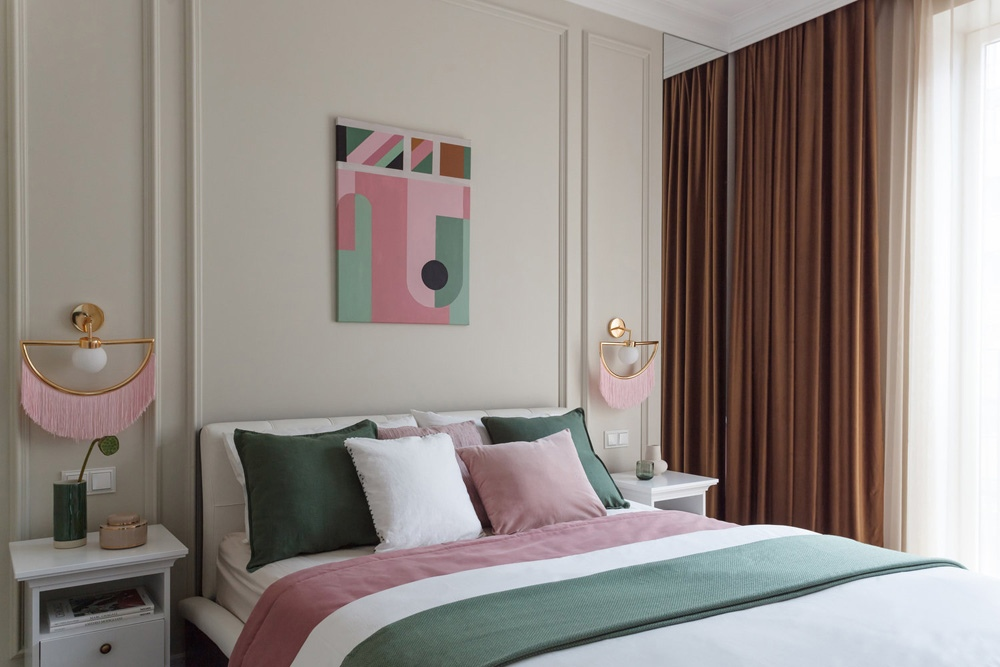 Безупречный интерьер квартиры площадью 37 м² с элементами классики