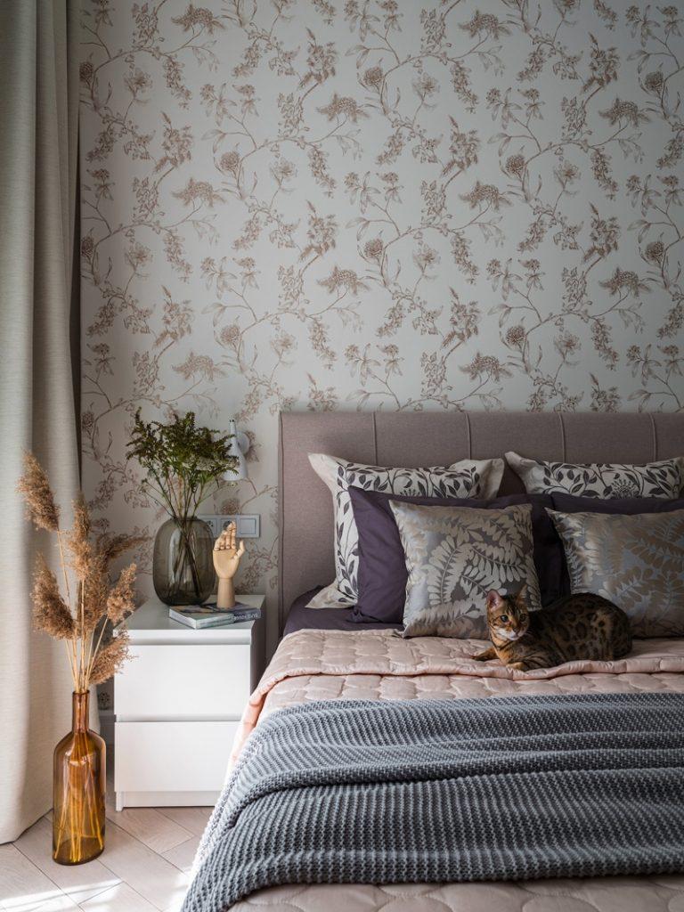 Модный интерьер и традиционная планировка однокомнатной квартиры площадью 39 м²