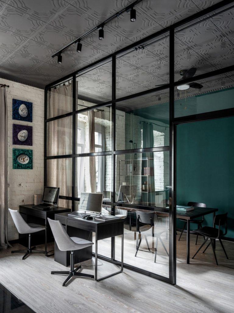 И офис, и квартира: офис площадью 66 м², который можно использовать как жилые апартаменты