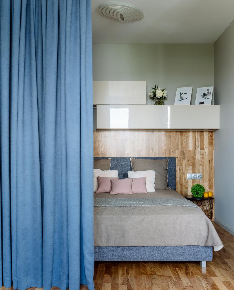 Вместо белого: простой минималистичный интерьер квартиры площадью 44 м² в приятной палитре