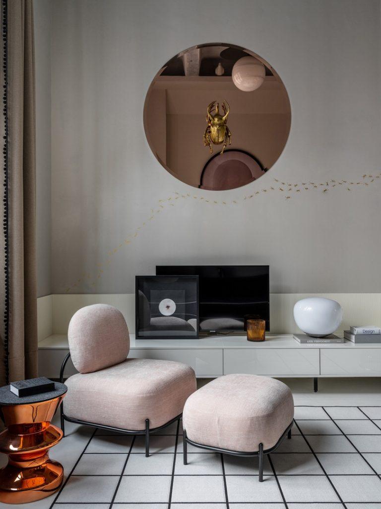 Двухуровневая квартира площадью 41 м² в стиле гранж