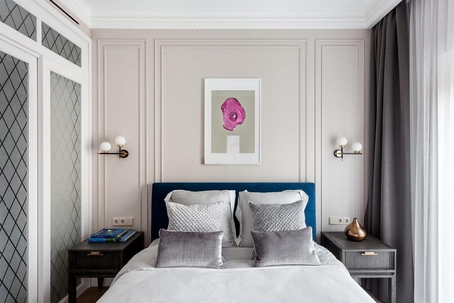 Элегантность в интерьере и цвет: однокомнатная квартира площадью 44 м² оформленная со вкусом