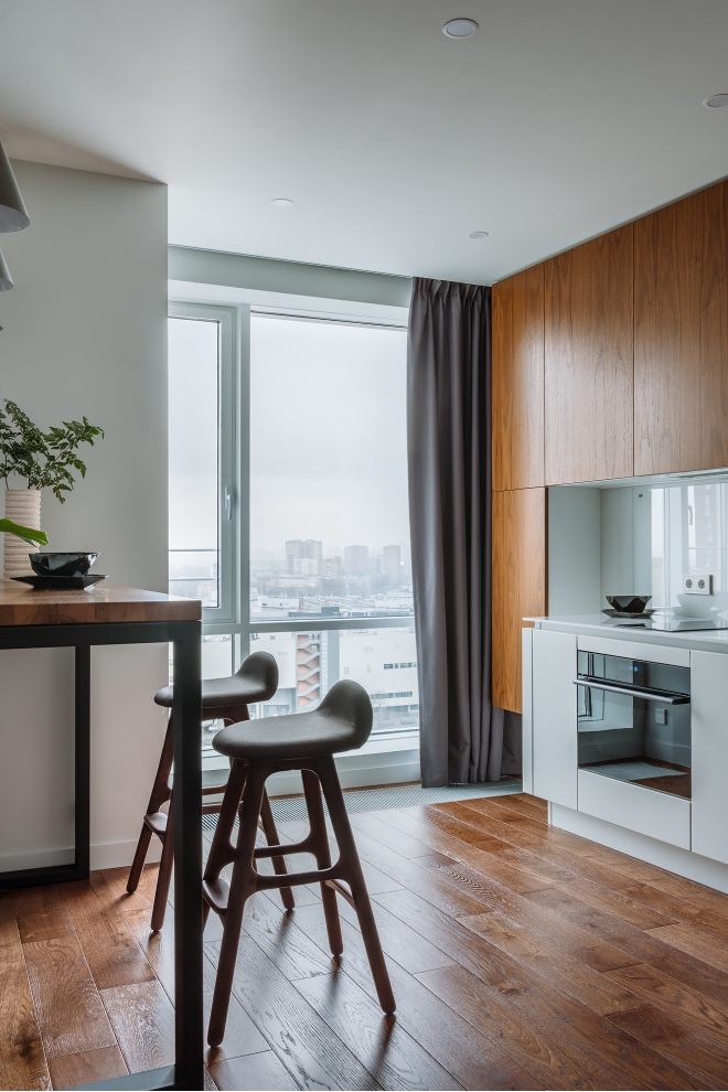 Готовое решение: стильный интерьер квартиры 40 м² с открытой планировкой